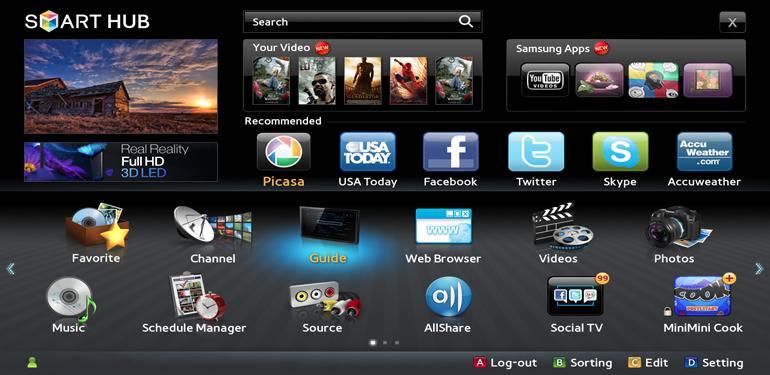 Samsung SmartTV.