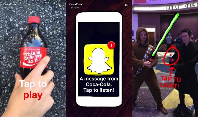 Coca Cola på Snapchat
