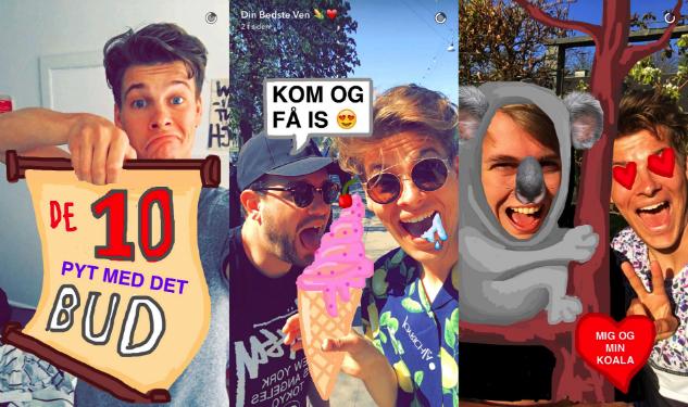 Lakserytteren på Snapchat