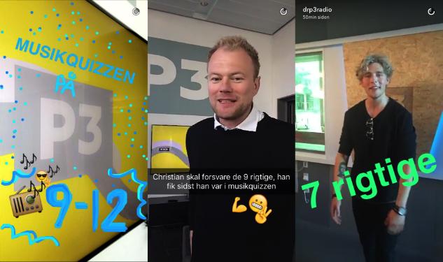 DR P3 Radio på Snapchat