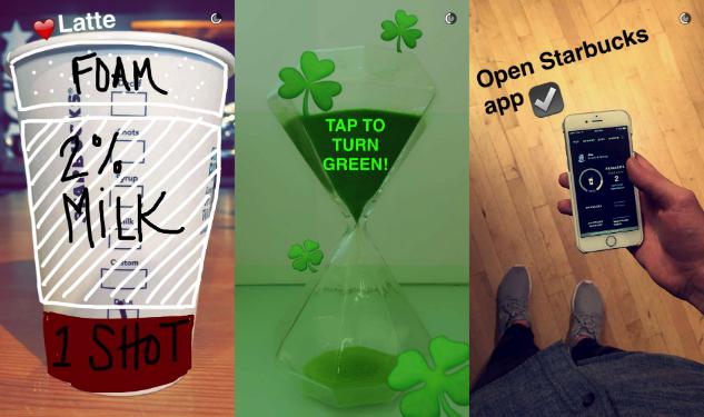 Starbucks på Snapchat